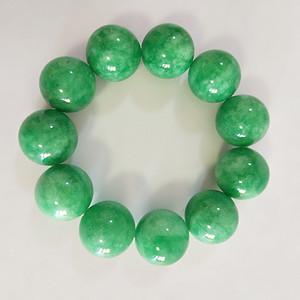 55  鲜绿翡翠手串