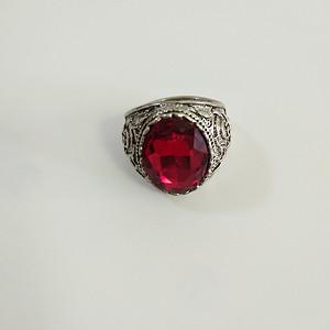 67 老银红宝石戒指