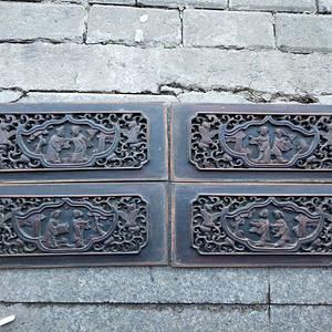 一套漂亮的楠木雕刻板