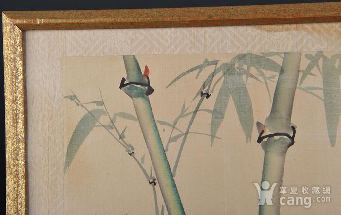 欧美回流 老设色绢本修竹图 带框图2