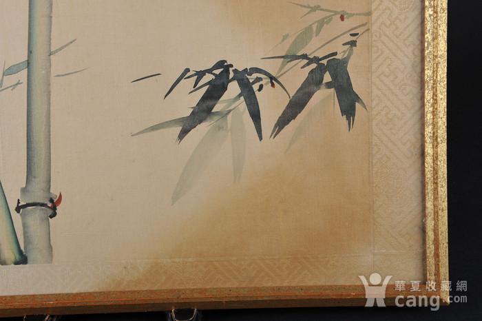 欧美回流 老设色绢本修竹图 带框图5