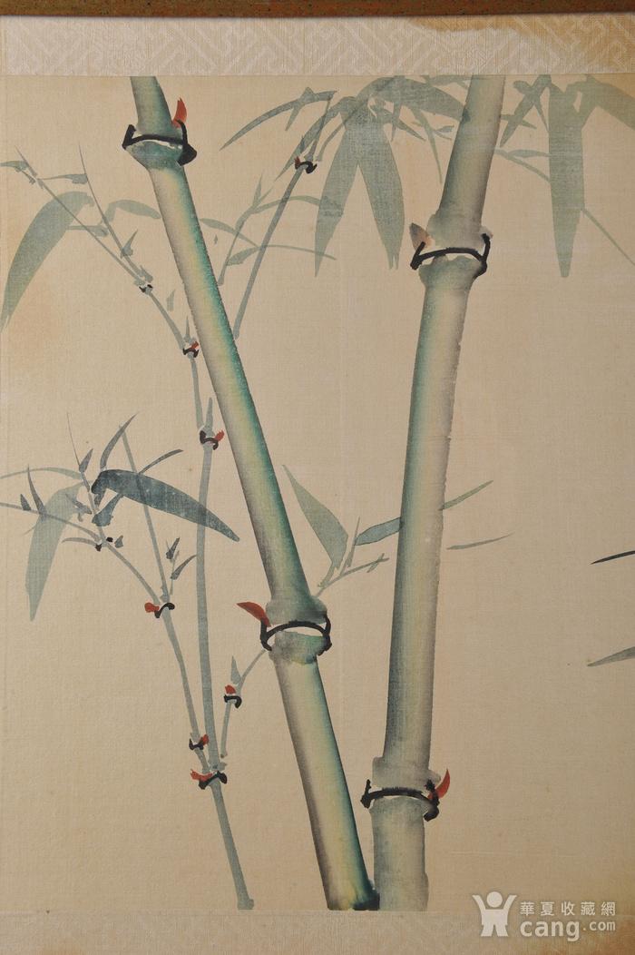欧美回流 老设色绢本修竹图 带框图6