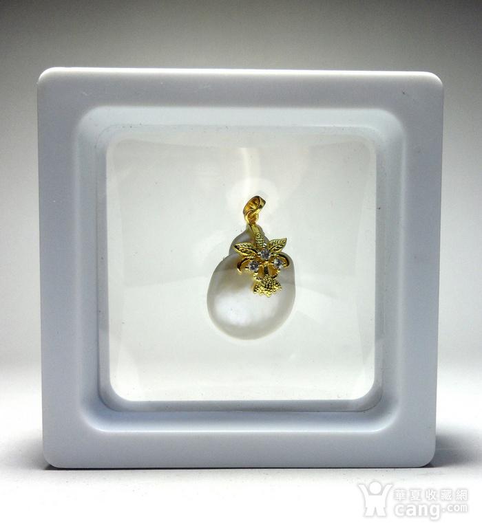 天然海水异形珍珠银镀金镶钻精美璀璨吊坠!图12