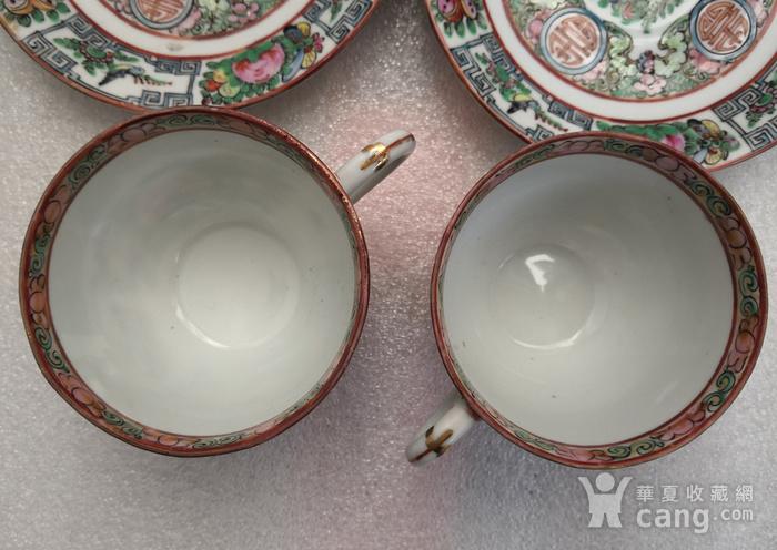 民国广彩福寿连绵纹杯碟2套全品包真包老图3