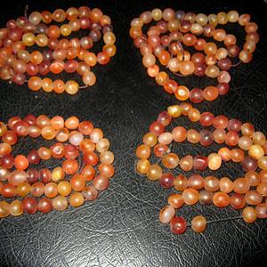 联盟 创汇期红玛瑙珠链4条