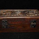 清 花梨木 暗八仙 首饰盒 工艺十分不错 南工 包浆老厚