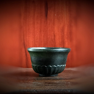 清代和田碧玉茶杯一只