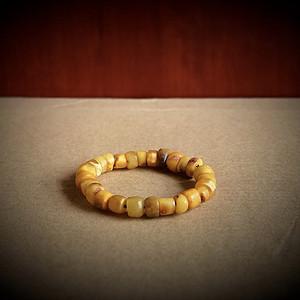 包老百年古珠 藏传老蜜蜡珠手串一条