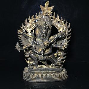 精品收藏级 藏区回流普巴金刚铜佛像