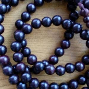 印度老料紫檀108佛珠手串