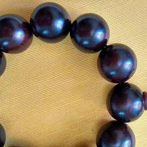 印度老料紫檀1.8佛珠手串
