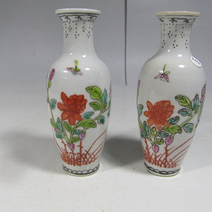 民国粉彩花卉纹瓶