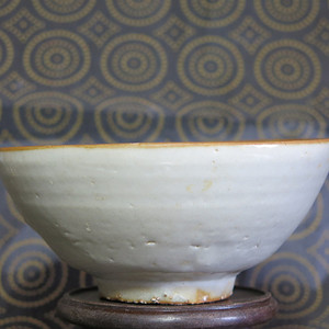 明代白釉大碗