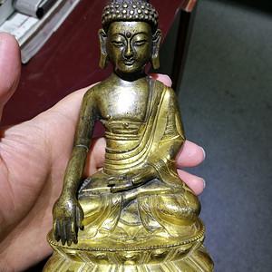 清 铜鎏金 释迦牟尼 佛像