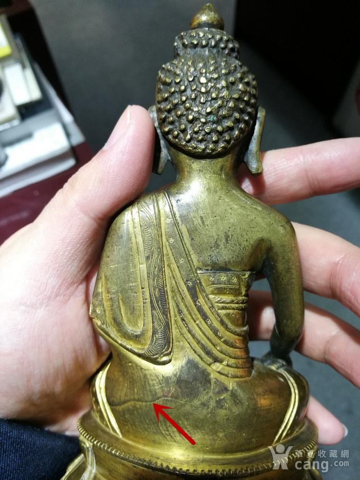 清 铜鎏金 释迦牟尼 佛像图4