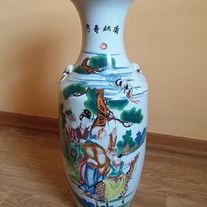 欧洲直邮 300件民国 麻姑寿考 粉彩大瓶