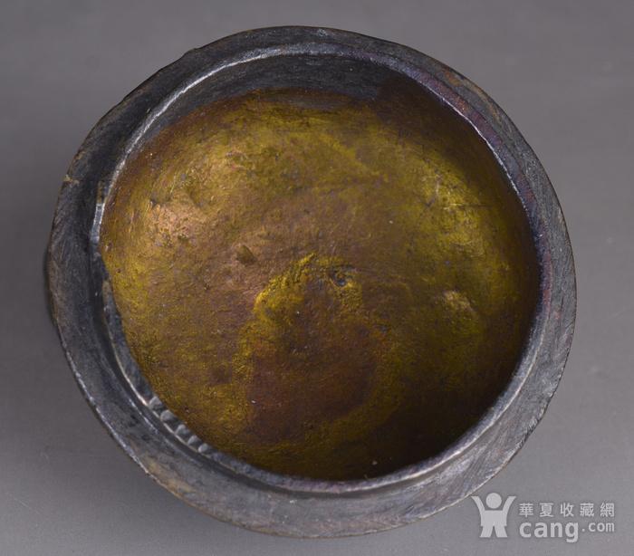 明 缠枝莲纹 铜香盒图8