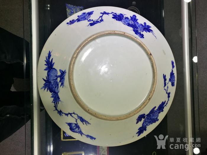 清 青花 风景人物 巨型圆盘图7