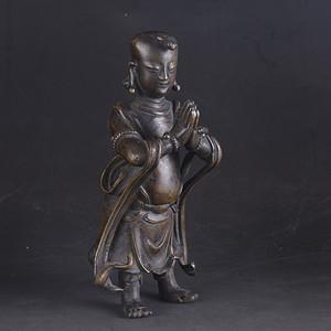 清初 善财童子 铜像