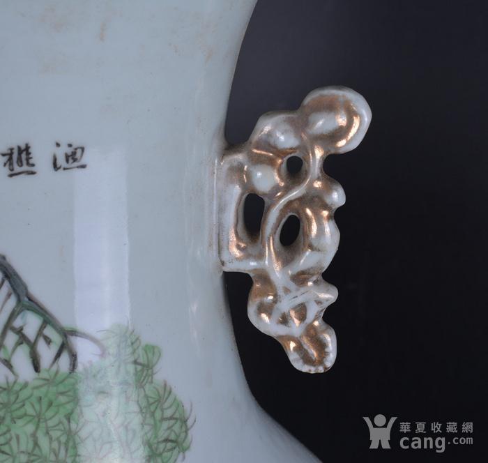 民国 粉彩 渔樵耕读 300件大瓶图6