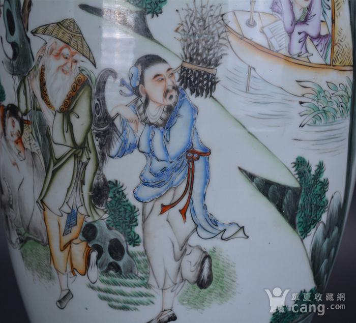 民国 粉彩 渔樵耕读 300件大瓶图9