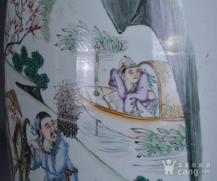 民国 粉彩 渔樵耕读 300件大瓶图10