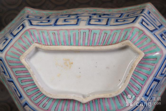 清代同治饕餮双龙回纹异形大盆图11
