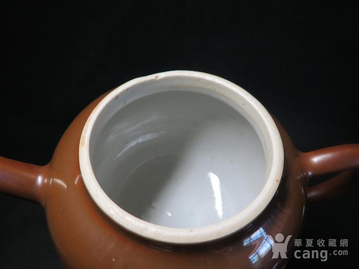 清代乾隆乌金酱釉大茶壶图9