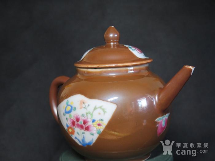 清代乾隆乌金酱釉大茶壶图2