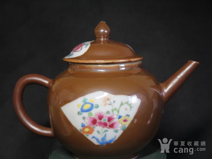 清代乾隆乌金酱釉大茶壶图3