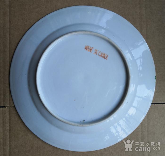民国广彩花碟纹大盘直径24.7公分包真包老图7