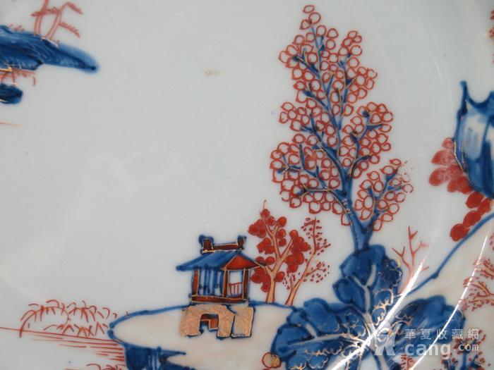 清代雍正山水风景描金彩粉大盘图6