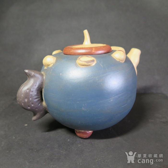 70年代百果紫砂壶图5