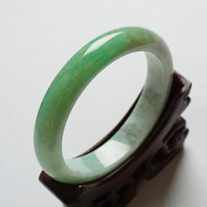 苹果绿翡翠平安手镯 58mm  17JL12