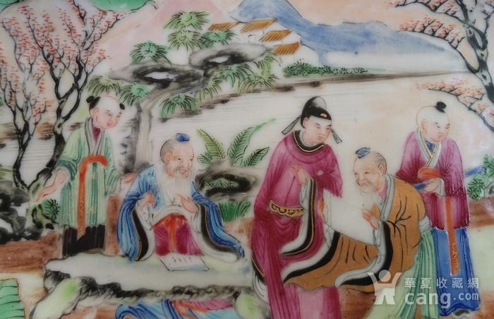 清晚期广彩精品开窗海棠型盘图3