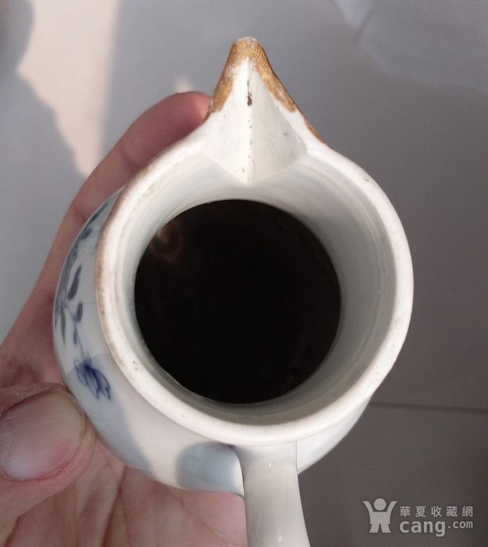 清乾隆青花描金牡丹花卉奶杯图7
