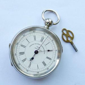 完美瑞士中心秒针计时大银怀表