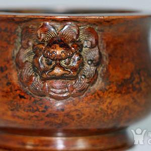狮耳寳月居铜炉