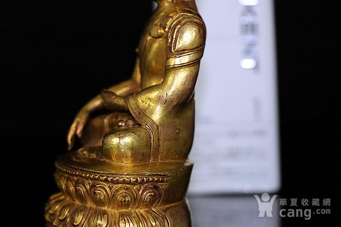 清鎏金释迦牟尼佛造像图7