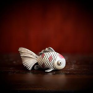 日本回流 精品工艺小金鱼