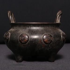 宣德年双耳三足铜炉 AA070