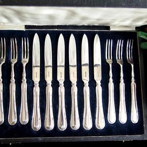 回流,1910年英国纯银餐具一套