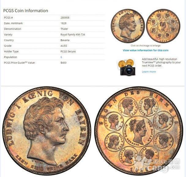 回流,压轴,巴伐利亚路德维希一世纪念银币图5