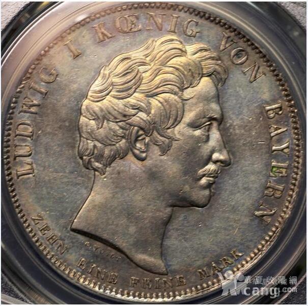 回流,压轴,巴伐利亚路德维希一世纪念银币图2