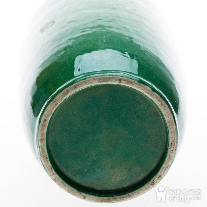 欧美回流 晚清 苹果绿釉棒槌瓶图8