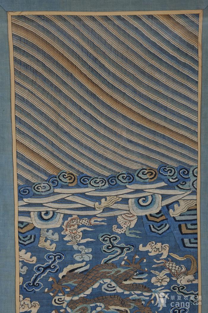 欧美回流 清 缂丝云龙海水纹条幅图2