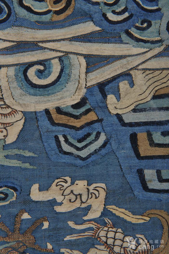 欧美回流 清 缂丝云龙海水纹条幅图9