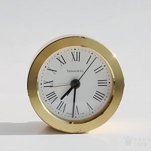 蒂芙尼全铜石英小钟