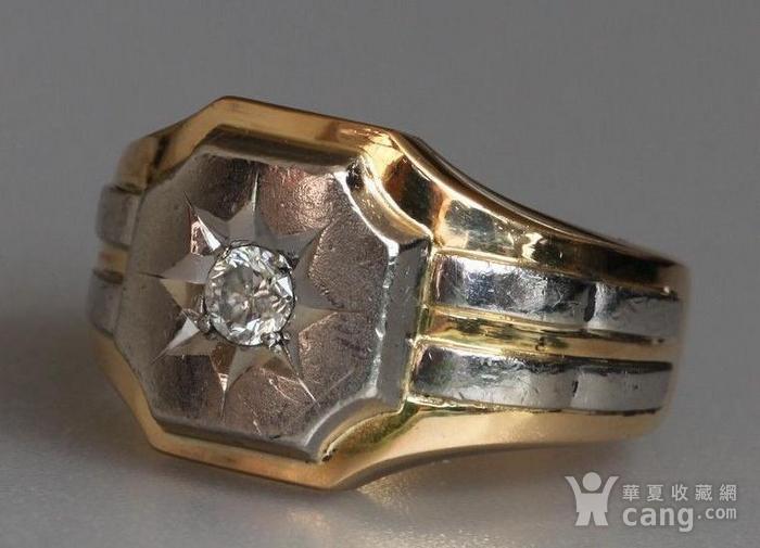 回流,独钻,双金,男式大戒指图3