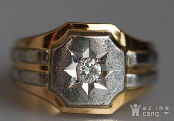 回流,独钻,双金,男式大戒指图1